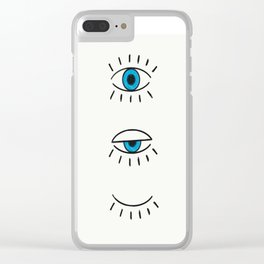 Summer Evil Eyes Clear iPhone Case