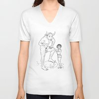 lolita V-neck T-shirts featuring Lolita by Required Animals