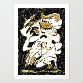 Deceiver - b&w Art Print