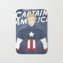 Heroes Unmasked Series: Capt. America Bath Mat