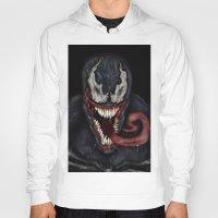 venom Hoodies featuring venom by Fila Venom Art