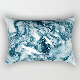 Birds on the ocean Rectangular Pillow