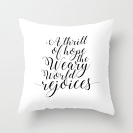 Quote calligraphy Christmas Decoration wall art print Christmas art holiday print Christian Christma Throw Pillow