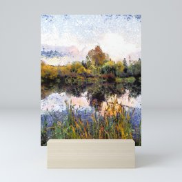Late Afternoon Reflections on a Lake Mini Art Print