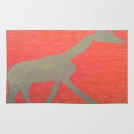 Giraffe Silhouette Rug