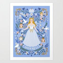Princess Fairy tale Illustration Art Print