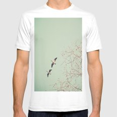 Let's get lost  MEDIUM White Mens Fitted Tee