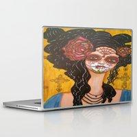 dia de los muertos Laptop & iPad Skins featuring Dia De Los Muertos by Lesa Barry