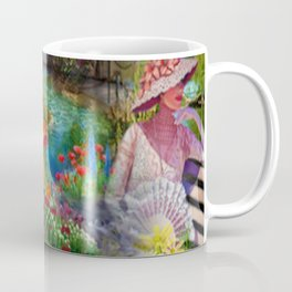 Spring in my floral dream digital illustration art Coffee Mug