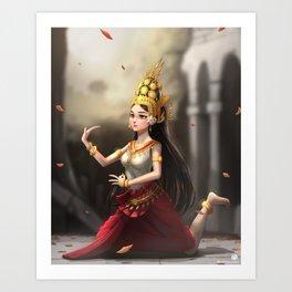 Apsara Dancer Art Print