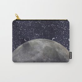 Mystic Galaxy Constellation Moon Stars and Cosmic Space White Carry-All Pouch