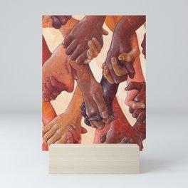 Holding Hands Mini Art Print