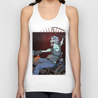 pirate ship Tank Tops featuring The Same Pirate, Different Ship by MenoTonik