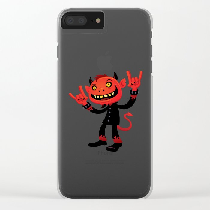 Heavy Metal Devil Clear iPhone Case