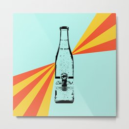 Chill Out Sparkling Water Retro  Metal Print