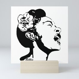 PORTRAIT OF AN AMERICAN FEMALE JAZZ SINGER Mini Art Print
