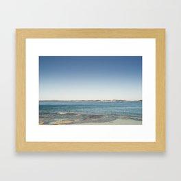 Queenscliff Rockpools Framed Art Print