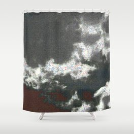 jpeg cloud ghosts Shower Curtain
