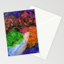 Space Garden in Technicolor Stationery Cards