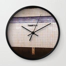 East Village Subway Wall Clock