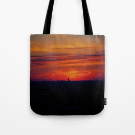 Chicago Sunset, February 5, 2015 (Chicago Sunrise/Sunset Collection) Tote Bag