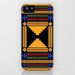 Kente Inspired Textile pattern iPhone Case