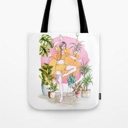 Yoga and Plants Tote Bag