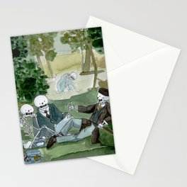 Luncheon on the grass - Manet - Skeleton version Stationery Cards