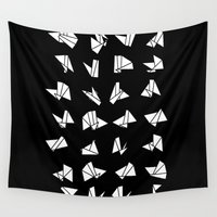 origami Wall Tapestries featuring origami by spinL