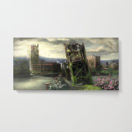 Portland in 100 years with no people Metal Print