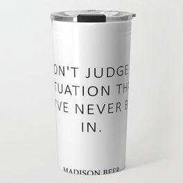 Don't judge - Beer Travel Mug