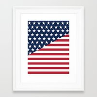 flag Framed Art Prints featuring Flag by dani