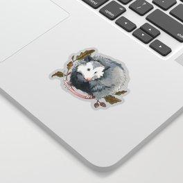 Possum and Oak Leaves Sticker