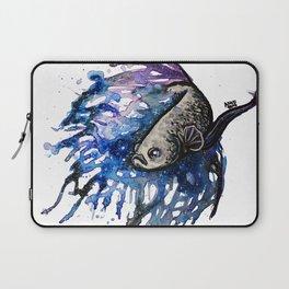Galaxy Betta Fish Watercolor Laptop Sleeve
