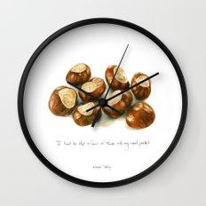 Chestnuts - into my coat pocket Wall Clock