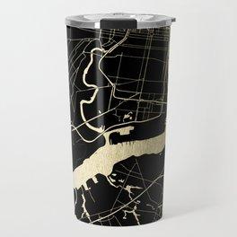 Philadelphia - Black and Gold Travel Mug