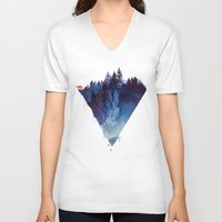 triangle V-neck T-shirts featuring Near to the edge by Robert Farkas