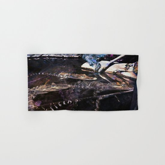 Falling Alligator Tank Of The Funky Newcomer Hand & Bath Towel