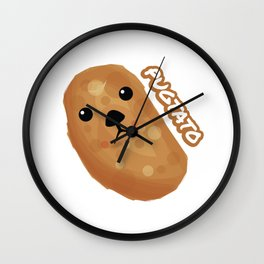 Cute Pug Pugtato Wall Clock