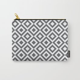 Geometric Pattern #170 (gray squares) Carry-All Pouch