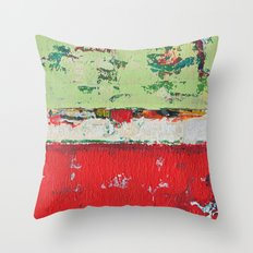 Dixon Red Green Abstract Painting Print Throw Pillow