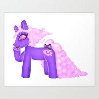 Cloud Pony Art Print