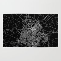 kentucky Area & Throw Rugs featuring Lexington map Kentucky by Line Line Lines