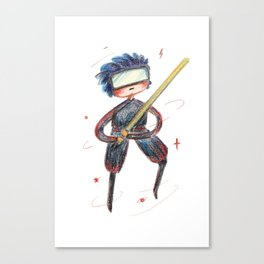 fighter with light saber Canvas Print