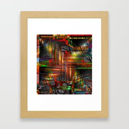 Bio-Digital Framed Art Print