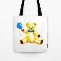 teddy bear Tote Bags featuring Teddy Bear by Artisimo (Keith Bond)