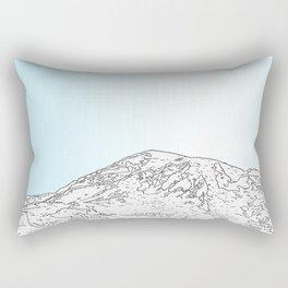 Mt Rainer Rectangular Pillow