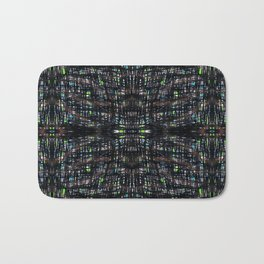 Green Lights At Night Bath Mat