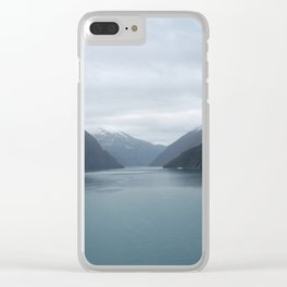 Looking Out Tracy Arm Fjord Clear iPhone Case
