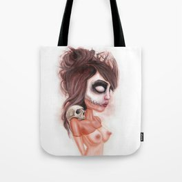 Deathlike Skull Impression Tote Bag